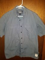 Eddie Bauer Mens McNary Shirt Small Vented Blue Short Sleeve Outdoor Fishing