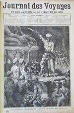 JOURNAL DES VOYAGES N° 490 de 1886 BIRMANIE SACRIFICES MARINE FLOTTE ALLEMANDE