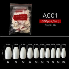 500pcs Natural White Clear False French Full Half Acrylic UV Gel Nail Art Tips