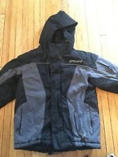 SPYDER Boys Kids Snowboard Ski Jacket Hooded Winter Coat Size 10 Grey&Black