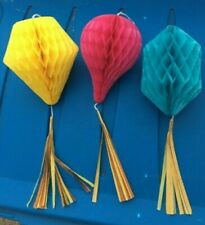 "3 LOT 12"" Honeycomb Tissue Paper Lantern hanging birthday party decoration"