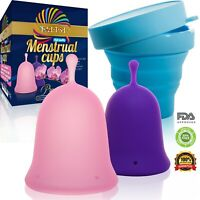 Talisi Menstrual Cups with Collapsible Silicone Sterilizing Foldable Period Cup