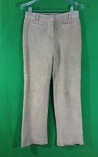 Ann Taylor LOFT beige leather  suede pants size 2 inseam 31