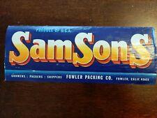 Vintage Paper Advertising SamSons Fowler Packing Co