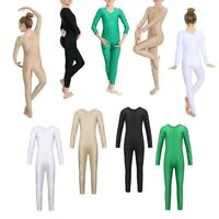 Girls Kids Ballet Dance Leotard Gymnastics Full Body Unitard Jumpsuit Costume