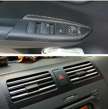 3D Black Carbon Fibre DIY Vehicle Interior Door Panel Handle Vinyl Film Sticker