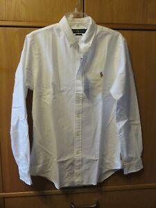 Ralph Lauren Core Replen Long Sleeve Shirt - SLIM FIT - White - Size M - NEW