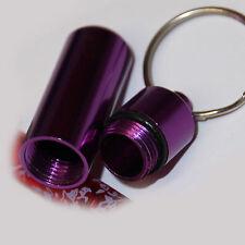 Pillendose, Purple / Lila als Schlüsselanhänger, Tablettendose, Alu - Pillenbox