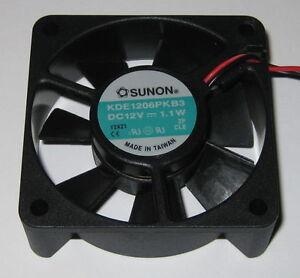 Sunon 60 mm Quiet Cooling KDE Fan - 12 V - 15 CFM - 26 dB - KDE1206PKB3
