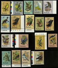 Barbados   1979-81   Scott #495-511   MNH Part Set