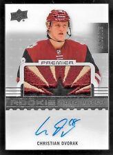 16/17 UD Premier #67 Christian Dvorak LOGO Patch On Card Autograph RC #229/299