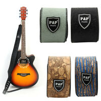 PU Leather Adjustable Electric Acoustic Guitar Bass Strap Belt