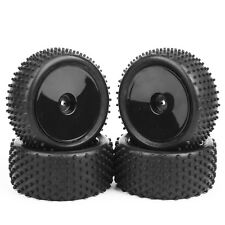 4X 90mm Front&Rear Off-Road Rubber Tires&Wheel For HSP HPI RC 1:10 Buggy Car