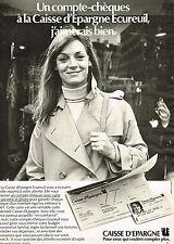 PUBLICITE ADVERTISING 114  1980  CAISSE D'EPARGNE  banque compte chéques