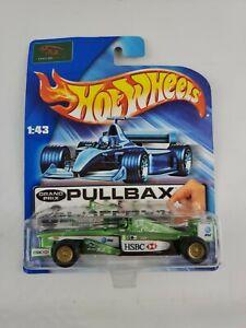 Hot Wheels Pullbax Grand Prix HSBC Jaguar Racing Team Race Car 2003 C1947