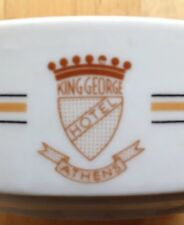 KING GEORGE HOTEL PORCELAIN RESTAURANT WARE ASHTRAY, ATHENS, GREECE, VINTAGE