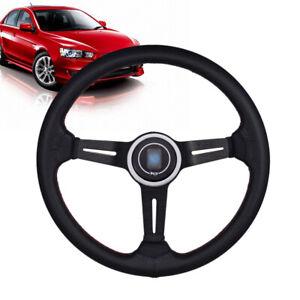 13.6'' 6 Bolt Aluminum Racing Steering Wheel w/ Horn Button Sport Drifting Wheel