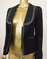 REVIEW BLACK CORSET VELVET JACKET COAT BLAZER TOP SUIT CAREER FORMAL 8