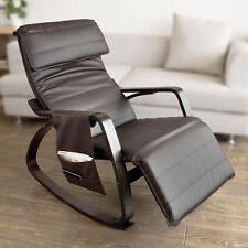 SoBuy PU Leather Rocking Armchair Lounge Chair With Footrest Fst20-br UK