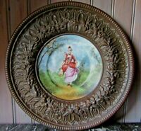 LOVELY FRENCH ANTIQUE DECORATIVE CHINA PORCELAIN PLATE