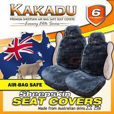 KAKADU Luxury Elite Sheepskin Seat Covers 6 Year Warranty EXPRESS 30mm AIRBAG