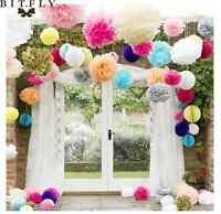 "5~200Pcs 6"" Paper Tissue Pom Poms Flowers Wedding Party Home Paper Flower Ball"