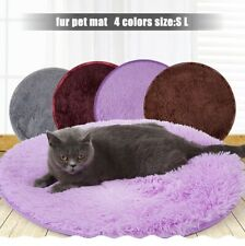 Winter Pet Dog Kennel Puppy Bed Cat Cushion Coral Fleece Mats Warm Soft Blanket