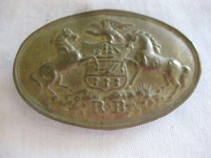 Original CIVIL WAR BELT BUCKLE Pennsylvania RB Reserve Brigade LEAD BACK Horses