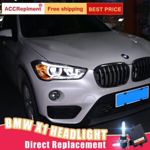 2Pcs For BMW X1 Headlights assembly Bi-xenon Lens Projector LED DRL 2016-2020