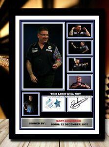 (494) gary anderson darts legend signed photograph unframed/framed reprint @@@@@