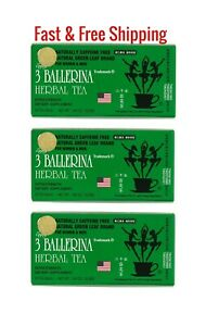 3 BX 3 BALLERINA TEA EXTRA STRENGTH 18 BAGS EA BOX 100% ORIGINAL-TE DE BAILARINA