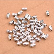 50/100Pcs Antique Silver/Gold/Bronze tube Charm Spacer Beads for Bracelet 3139