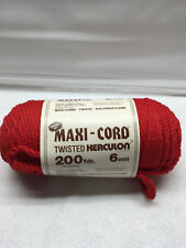 Maxi Cord twisted herculon cord 6mm 200 yds 182 meters red