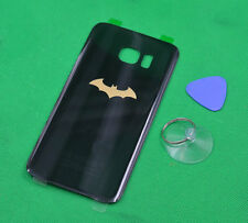 For Samsung Galaxy S7 Edge G935 Batman Rear Back Battery Glass Cover Black