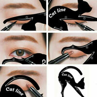 2pcs Eyeliner Makeup Stencil Cat Line Smokey Eye Makeup Eyeliner Template Tools