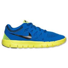 NIKE Free 5 PS Running Shoes NIB Boys Pre-School Sz 3Y / EUR 35 blue black navy