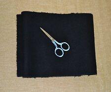 5 piece New Felted Black Pendleton Melton Wool remnants crafts embellishments