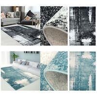 Teppich Modern Designer Wohnzimmer Impression Vintage Pastel-Blau Grau NEU