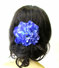 Large Violet Purple Peony Flower Hair Comb Bridesmaid Big Rockabilly 1950s 1734