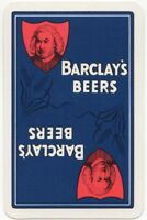 Playing Cards Single Card Old BARCLAYS Brewery Advertising Art LAGER Beer Hops 1