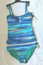 Lauren Ralph Lauren Bandeau/Straps Tankini set Size 10 retail $152