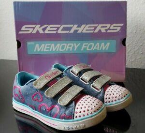Skechers Kinder Schuhe Gr. 33 Blinker Schuhe Mädchen Sneckers