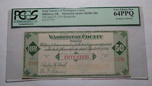 $.50 1933 Hillsboro Oregon OR Obsolete Currency Bank Note Bill! Remainder Scrip