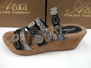 Azura Womens Claretha Black Multi Size 39