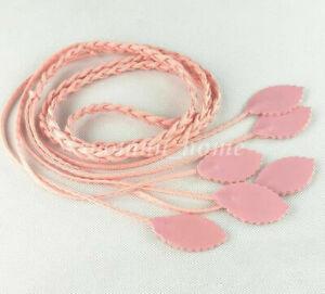 1Pcs Chic Leaves Waist Belt Thin Leather For Women Girl Narrow Waistband Decor #
