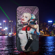 HARLEY QUINN/SUICIDE SQUAD/FLIP WALLET PHONE CASE COVER FOR IPHONE/SAMSUNG
