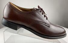 ALDEN 594 Plain Toe Brown Blucher Ortho Lace Oxford Shoe Men 11.5 E Wide NEW