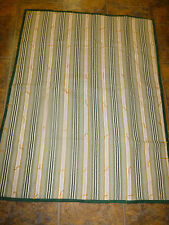 Handmade Hand Tied Quilt 35 x 46 Green Gold Striped