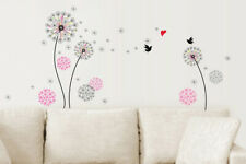 Walplus Wall Sticker Decal  Pink Dandelion Kids Nursery Room Home Decorations