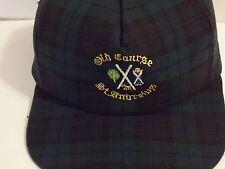 Vintage Kangol Old Course St Andrews Golf Black Watch Plaid  Strapback Hat  VGC